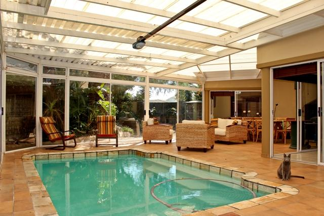 small garages ideas - Modern Home for the Entertainer Indoor Braai Pool
