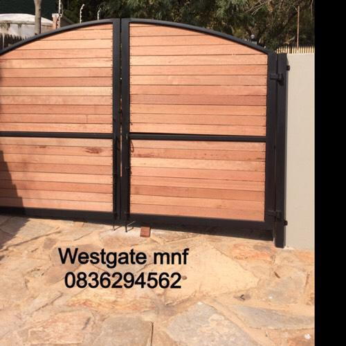 Wood Driveway Gates And Wood And Steel Garden Gates