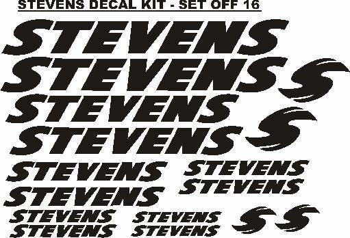Decals Stickers Graphics For Stevens Model Bicycles