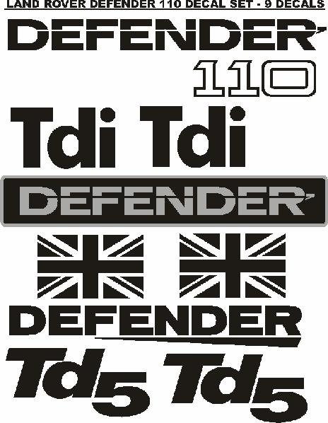 Land Rover Defender 90 And 110 Decals Stickers Graphics